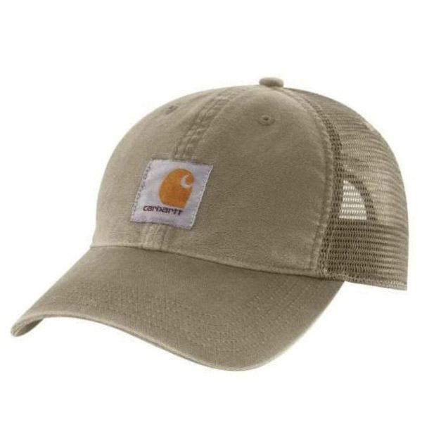 Picture of Carhartt 100286-391 Buffalo Cap, Embroidered Logo, Men's, One-Size, Cotton/Polyester, Burnt Olive