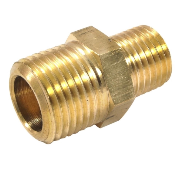 Picture of Forney 75533 Hose Reducer, 1/4 x 3/8 in, MNPT, Brass