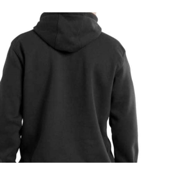Picture of Carhartt 100615001-XL-T Hooded Sweatshirt, XL, 46 to 48 in Chest, Cotton/Polyester, Black