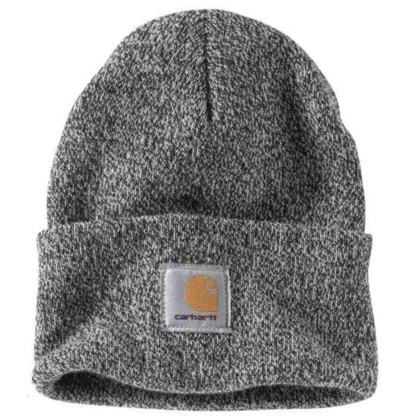 Picture of Carhartt A18-019 Watch Hat, Beanie, Men's, One-Size, Acrylic, Black/White
