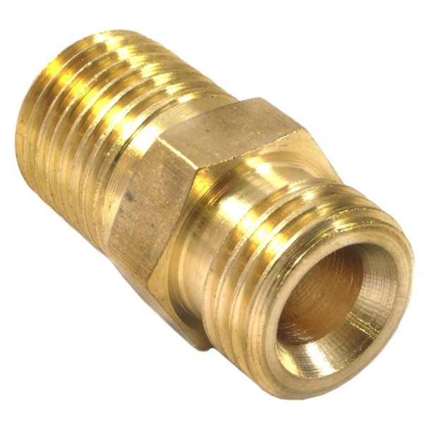 Picture of Forney 75537 Ball End Adapter with Ball Socket, 1/4 in, MNPT x MNPS, Brass