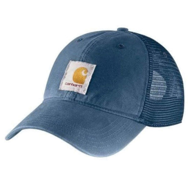 Picture of Carhartt 100286-476 Buffalo Cap, Embroidered Logo, Men's, One-Size, Cotton/Polyester, Dark Blue