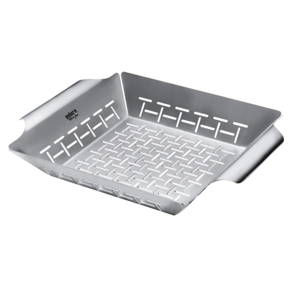 Picture of Weber 6434 Deluxe Grilling Basket, 13.8 in L, 11.8 in W, Stainless Steel
