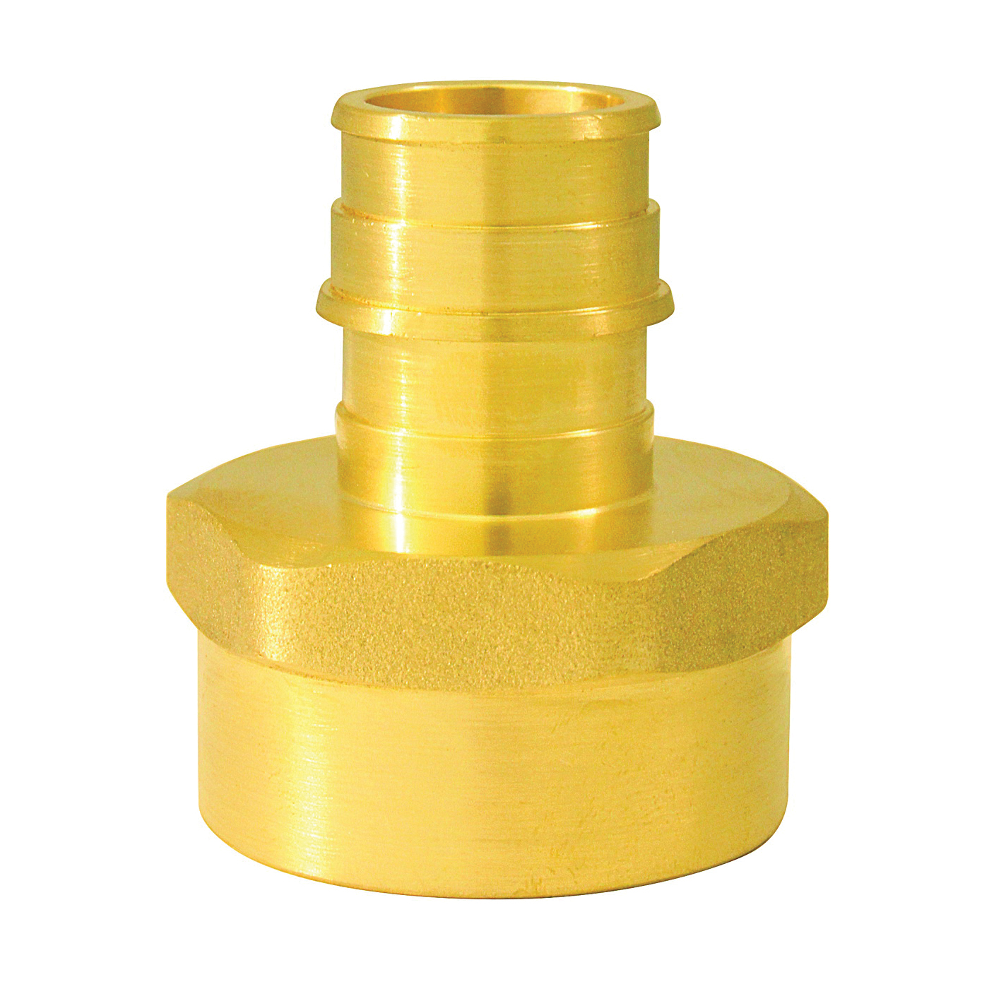 Picture of Apollo ExpansionPEX EPXFA341 Reducing Adapter, 3/4 x 1 in, Barb x FNPT, Brass, 200 psi Pressure