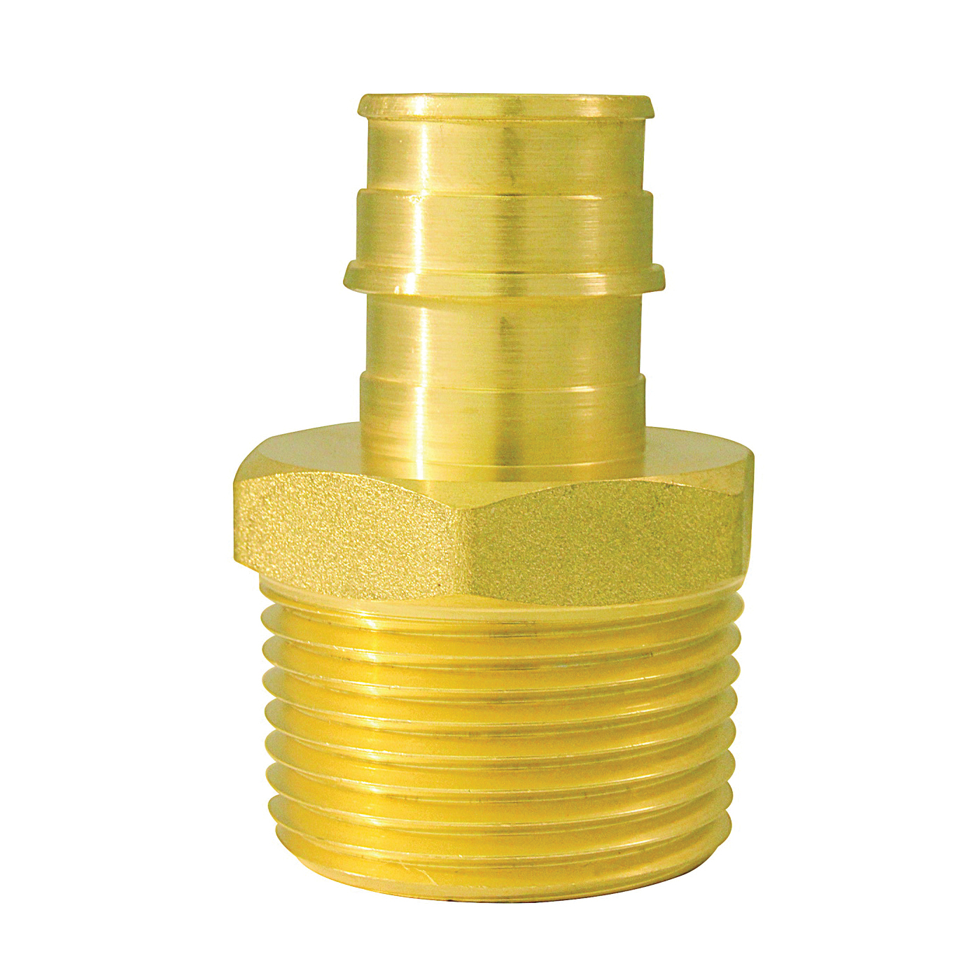 Picture of Apollo ExpansionPEX EPXMA341 Reducing Adapter, 3/4 x 1 in, Barb x MPT, Brass, 200 psi Pressure