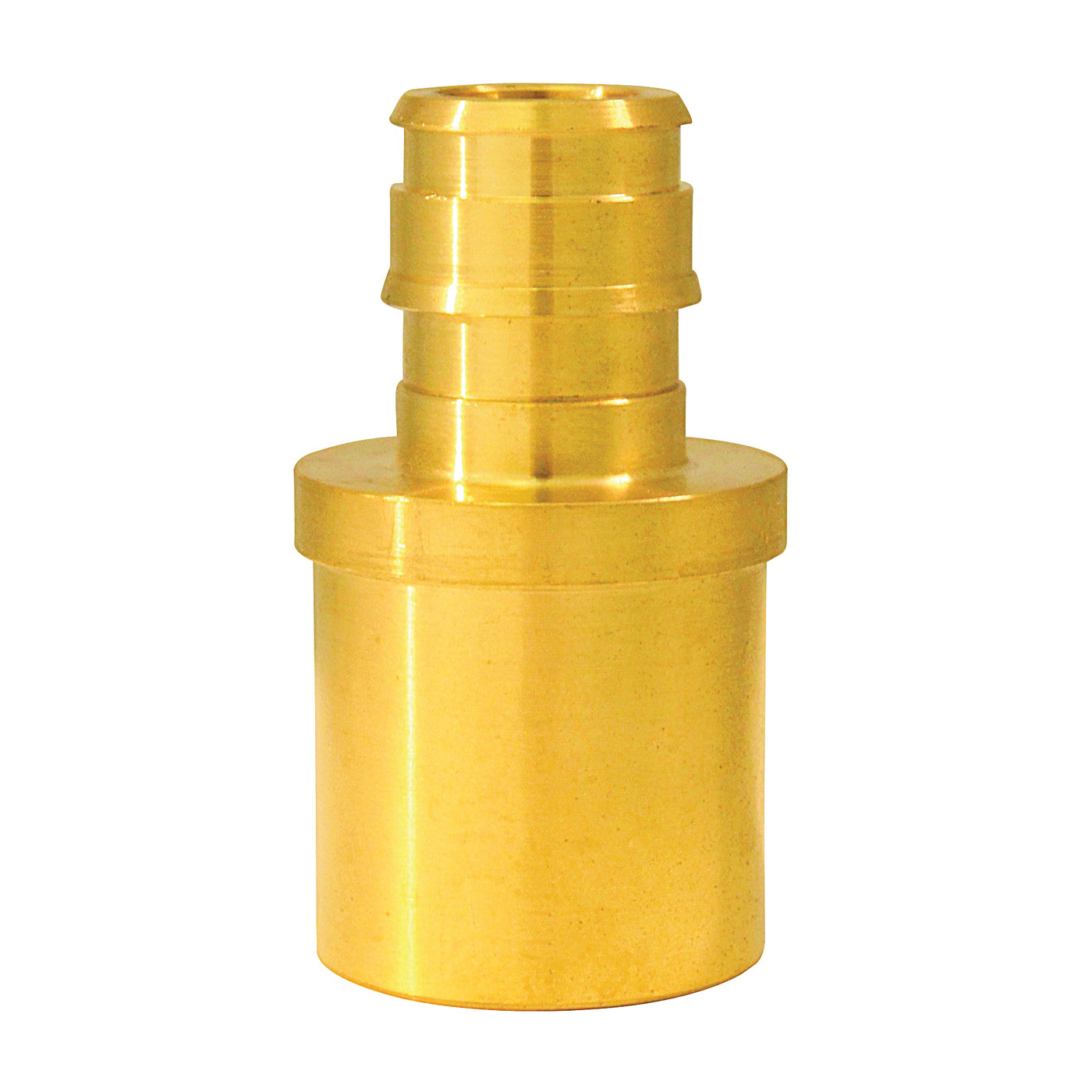 Picture of Apollo ExpansionPEX EPXMS1234 Reducing Solder Adapter, 1/2 x 3/4 in, Barb x Male Sweat, Brass, 200 psi Pressure