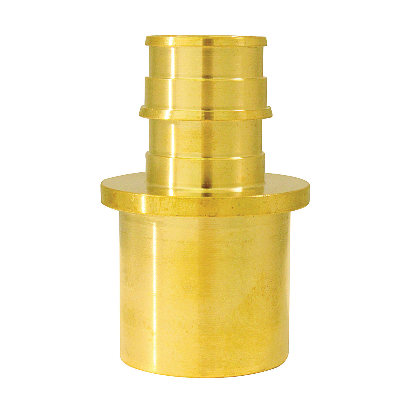 Picture of Apollo ExpansionPEX EPXMS341 Reducing Solder Adapter, 3/4 x 1 in, Barb x Male Sweat, Brass, 200 psi Pressure