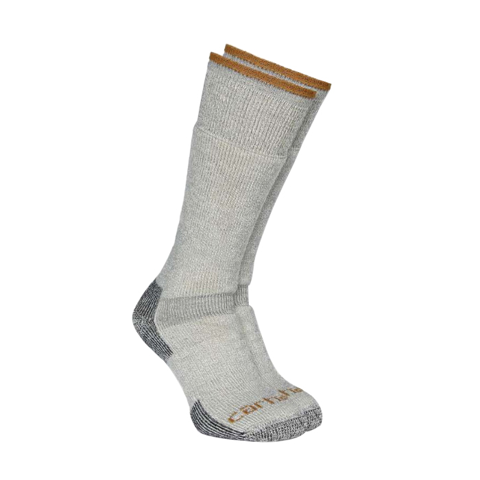 Picture of Carhartt A3915-HGY-L Heavy Weight Boot Socks, L, Elastane/Nylon/Wool, Heather Gray