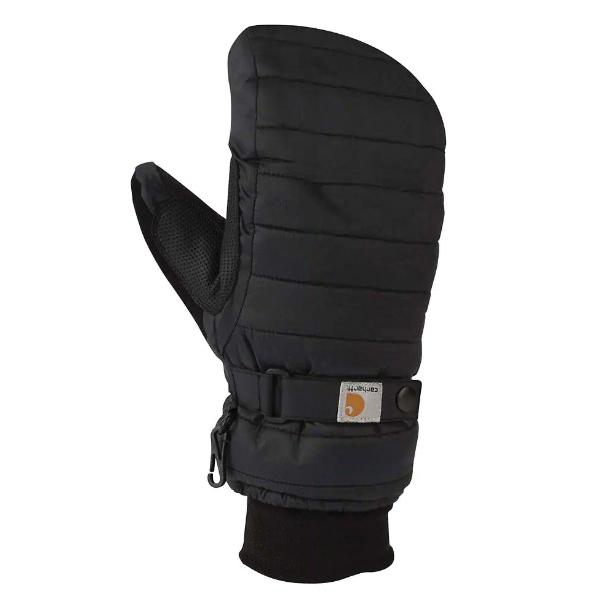 Picture of Carhartt WA625-BLK-L Quilt Gloves, L, Elastic Cuff, Polyurethane Palm, Black