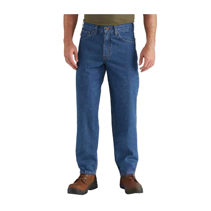 Picture of Carhartt B17-DST-34X30 Heavyweight Jeans, 34 in Waist, 30 in Inseam L, Darkstone, Relaxed, Tapered