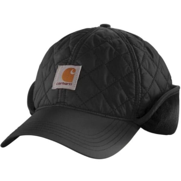 Picture of Carhartt 102355-001-M/L Gilliam Cap, Gilliam Quilted, Men's, M/L, Nylon/Polyester/Spandex, Black