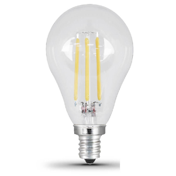 Picture of Feit Electric BPA1560C850LED/2 LED Bulb, 6 W, Candelabra E12 Lamp Base, A15 Lamp, Daylight Light, 500 Lumens