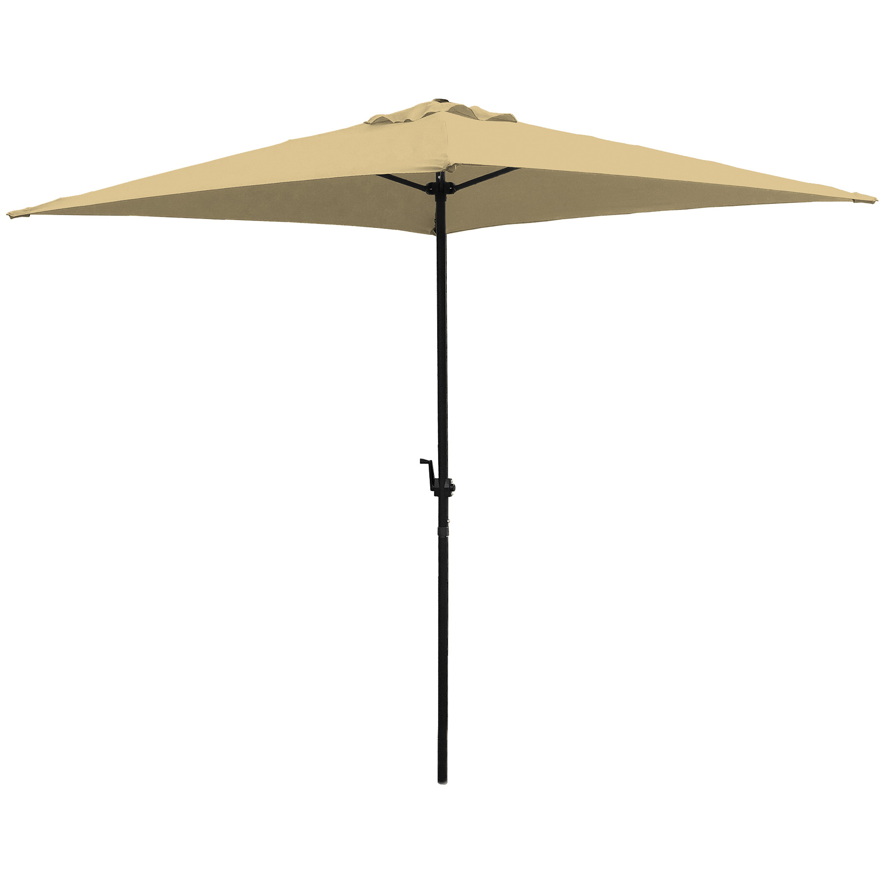Picture of Seasonal Trends UMQ65BKOBD-04 Umbrella, 7.8 ft H, 6.5 ft W Canopy, 6.5 ft L Canopy, Square Canopy, Steel Frame