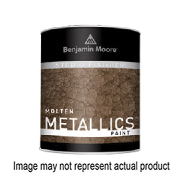 Picture of Benjamin Moore Studio Finishes Molten Metallics 621 Series 062178-004 High-Gloss Paint Silver, Silver, 4 gal, Can