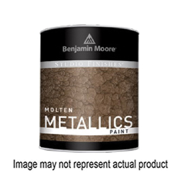 Picture of Benjamin Moore Studio Finishes Molten Metallics 621 Series 062179-004 High-Gloss Paint Gray, Gray, 4 gal, Can