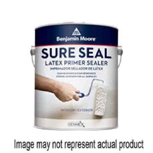 Picture of Benjamin Moore Sure Seal 002700-001 Primer, Flat, White, 1 gal, Pail