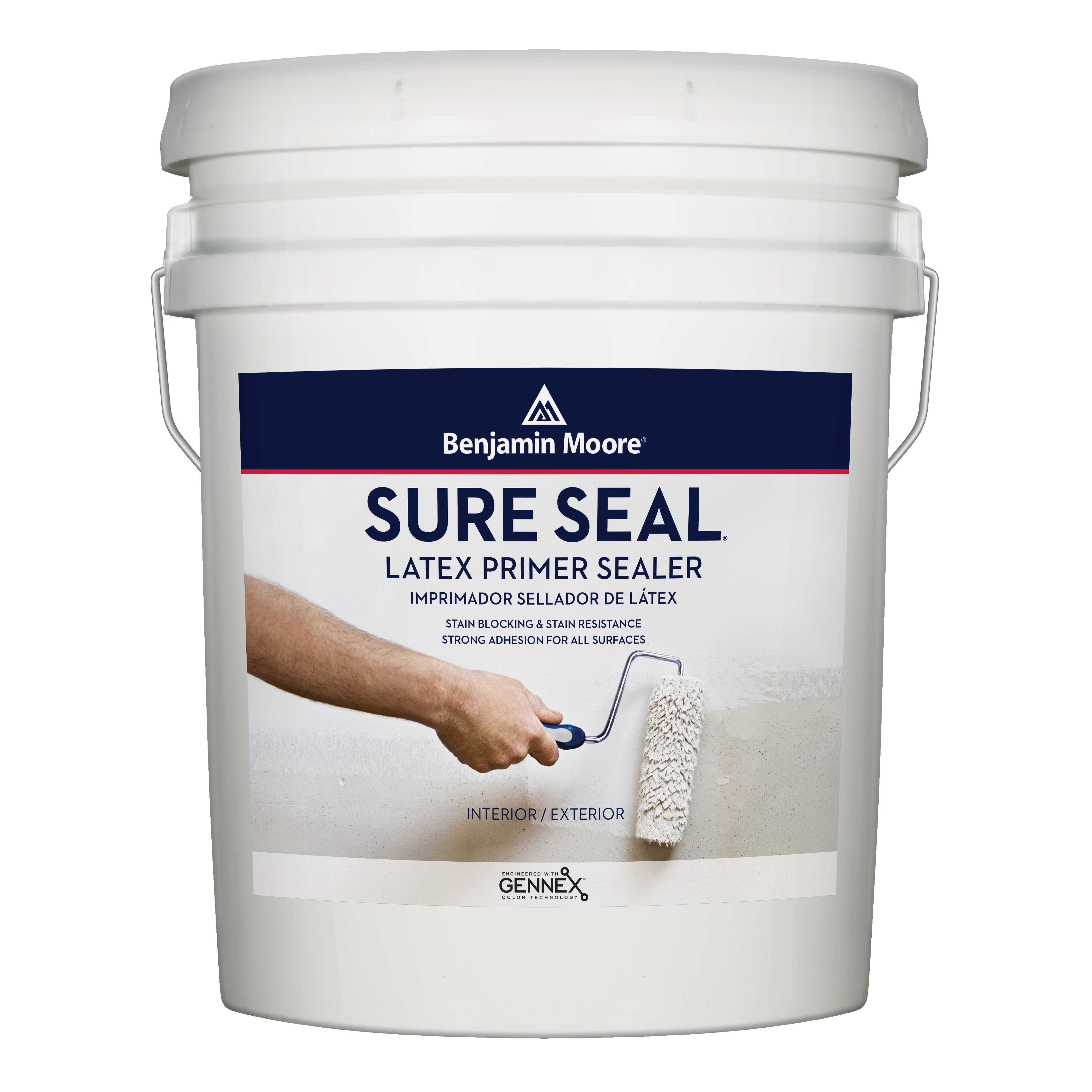 Picture of Benjamin Moore Sure Seal 002700-005 Primer, Flat, White, 5 gal, Pail