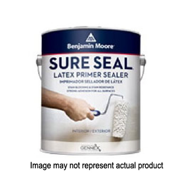 Picture of Benjamin Moore Sure Seal 002700-004 Primer, Flat, White, 4 gal, Pail
