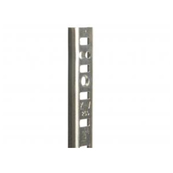 Picture of Knape & Vogt 255 Series 255 ZC 96 Pilaster Standard, Mortise-Mount, 500 lb, Steel, 50, Wall Mounting