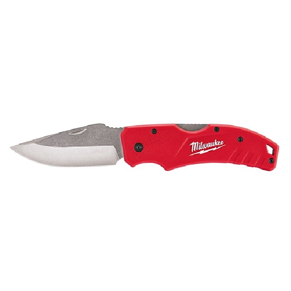 Picture of Milwaukee 48-22-1940 Lockback Pocket Knife, 3 in L Blade, Stainless Steel Blade, Ergonomic Handle