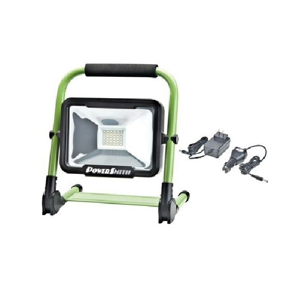 Picture of PowerSmith PWLR1120F Rechargeable Work Light, 20 W, Lithium-Ion Battery, 1-Lamp, LED Lamp, 1800, 800, 300 Lumens