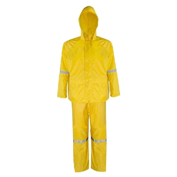 Picture of Diamondback RS3-01-XL Rain Suit, XL, Polyester, Concealed Collar, Zipper Closure