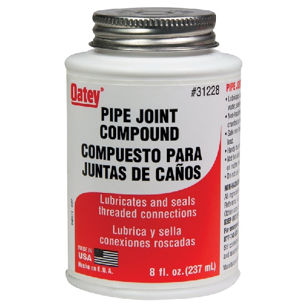 Picture of Oatey 31228 Pipe Joint Compound, 8 fl-oz, Paste, Gray