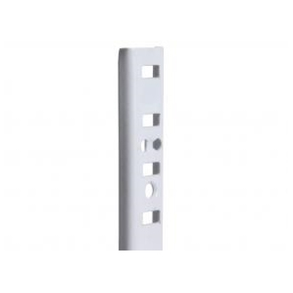 Picture of Knape & Vogt 255 Series 255 WH 48 Pilaster Standard, Mortise-Mount, 500 lb, Steel, White, 100, Wall Mounting