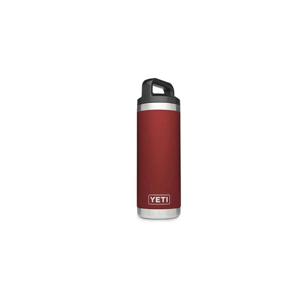 Picture of YETI Rambler YRAMB18BR Bottle with Chug Cap, 18 oz Capacity, Stainless Steel, Brick Red