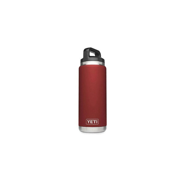 Picture of YETI Rambler YRAMB26BR Bottle, 26 oz Capacity, Stainless Steel, Brick Red