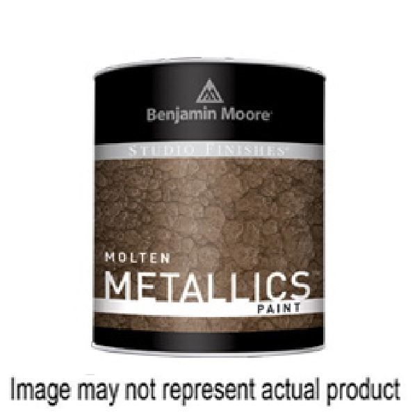 Picture of Benjamin Moore Studio Finishes Molten Metallics 621 Series 062179-008 High-Gloss Paint Gray, Gray, 8 gal, Can