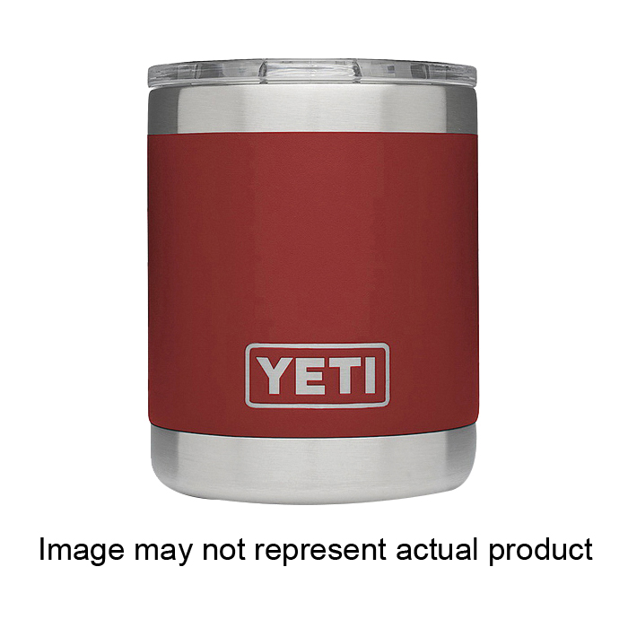 Picture of YETI Rambler 21071500049 Lowball with Standard Lid, 10 oz Capacity, MagSlider Lid, 18/8 Stainless Steel, Sand
