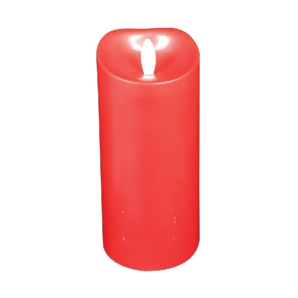 Picture of Santas Forest 25305 Flameless Candle, 5-1/2 in Candle, Cinnamon Fragrance, Red Candle
