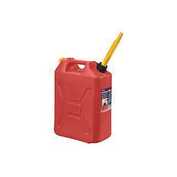 Picture of Scepter 3609 Military Style Gas Can, 20 L Capacity, Polyethylene, Red