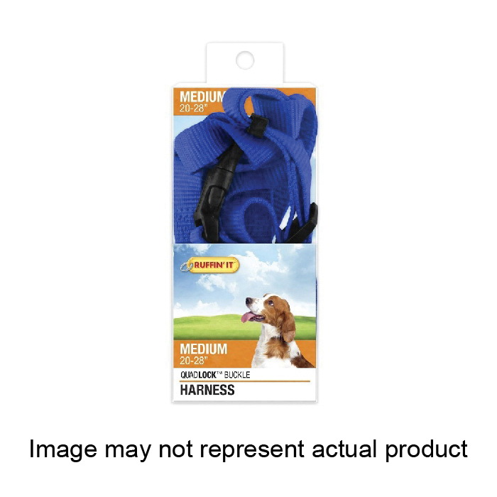 Picture of RUFFIN'IT 41473 Adjustable Harness, 3/4 in x 20 to 28 in, Fastening Method: Buckle, Nylon Harness, Assorted