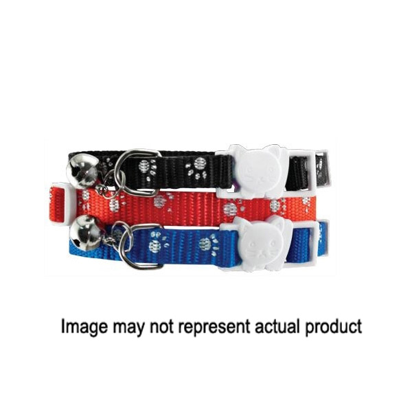 Picture of RUFFIN'IT 39249 Adjustable Breakaway Cat Collar, 3/8 in W Collar, 8 to 12 in L Collar, Fastening Method: Buckle