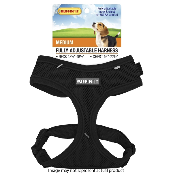 Picture of RUFFIN'IT 41463 Fully Adjustable Harness, 13-1/2 to 16-1/2 in x 16 to 22-1/2, Mesh Fabric Harness, Assorted
