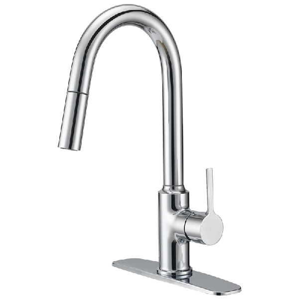 Picture of Boston Harbor FP4AF227CP Pull-Down Kitchen Faucet, 1-Faucet Handle, 1-Faucet Hole, Chrome, Lever Handle