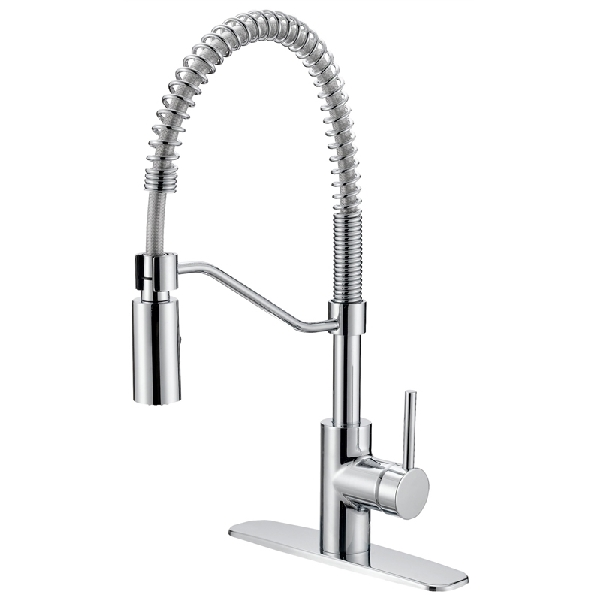 Picture of Boston Harbor FP4A0096CP Pull-Down Kitchen Faucet, 1.8 gpm, 1-Faucet Handle, 1-Faucet Hole, Chrome, Lever Handle