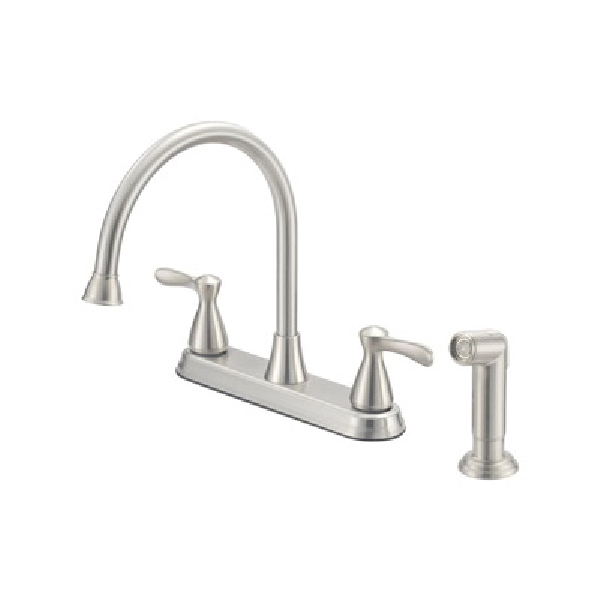 Picture of Boston Harbor F8210001NP Kitchen Faucet, 1.75 gpm, 4-Faucet Hole, Stainless Steel, Lever Handle
