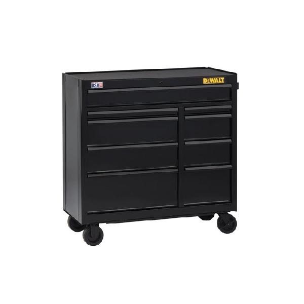 Picture of DeWALT DWST24190 Rolling Tool Cabinet, 15,498 cu-in, 26-1/2 in OAW, 40-1/2 in OAH, 18 in OAD, Steel, Black