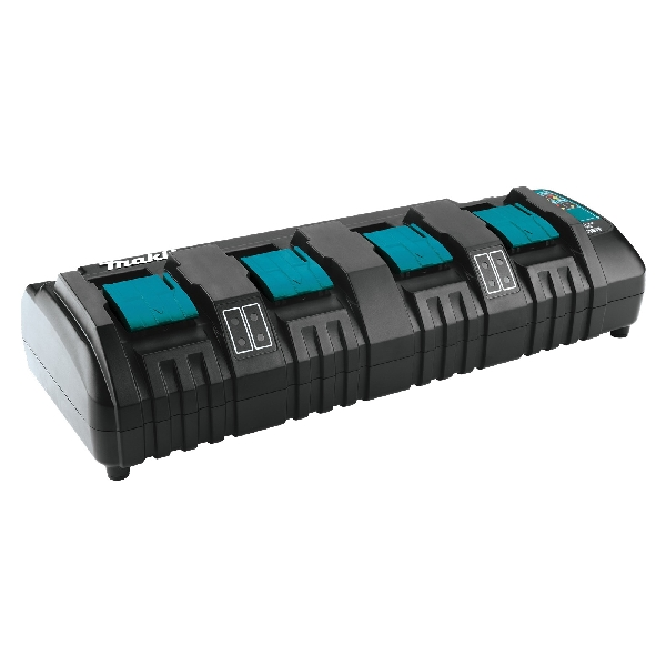 Picture of Makita DC18SF Four-Port Charger, 18 V Output, 2 to 3 Ah, 50 to 100 min Charge, 4 -Battery, Battery Included: No