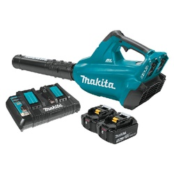 Picture of Makita XBU02PT Cordless Blower Kit, 18 V Battery, Lithium-Ion Battery, 6 -Speed, 473 cfm Air, 28 min Run Time