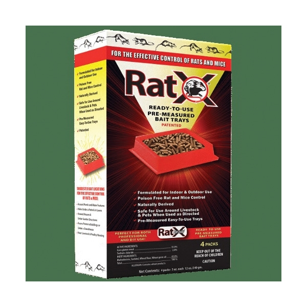 Picture of RatX 620104 Ready Bait Tray, Pellet, 9.6 oz Package, Pack