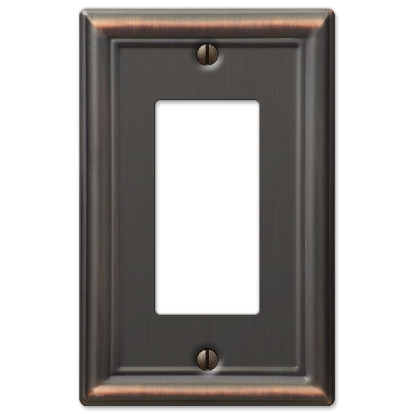 Picture of AmerTac 149RDB Switch Wallplate, 1-Gang, Steel, Aged Bronze