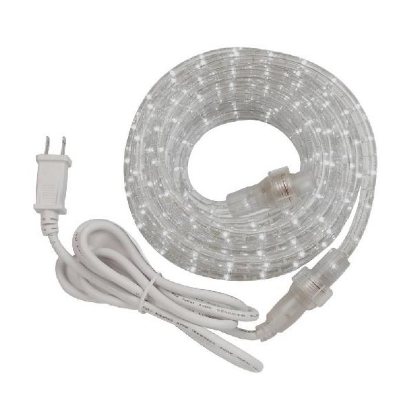 Picture of AmerTac RWLED48BCC Rope Light Kit, 120 V, 2 W, LED Lamp, Day White Light, 750 Lumens, 6000 K Color Temp, 48 ft L