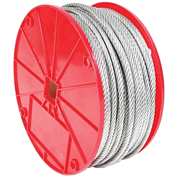 Picture of BARON 695947 Vinyl-Coated Cable, 3/16 to 1/4 in Dia, 250 ft L, Galvanized