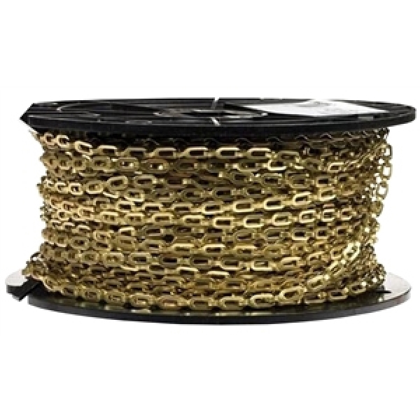 Picture of BARON 7183 Sash Chain, #1/0 Trade, 200 ft L, Steel, Brass