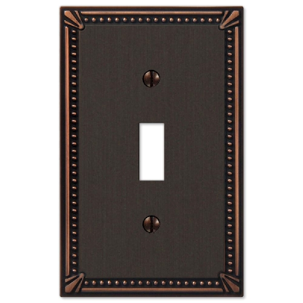 Picture of AmerTac 74TDB Switch Wallplate, 1-Gang, Metal, Aged Bronze