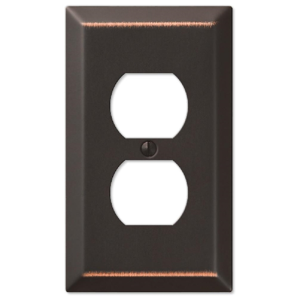 Picture of AmerTac 163DDB Wallplate, 1-Gang, Steel, Aged Bronze